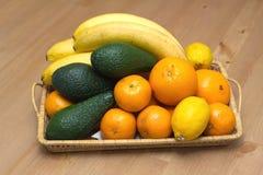 Still life with tropical fruits closeup Royalty Free Stock Photos