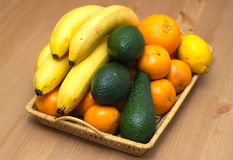 Still life with tropical fruits closeup Royalty Free Stock Photo