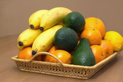 Still life with tropical fruits closeup Royalty Free Stock Photos