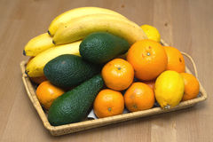 Still life with tropical fruits closeup Royalty Free Stock Photography