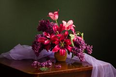 Still life with tulips Royalty Free Stock Photography