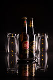 Still life with two bottles Super Bock beer Stock Photos