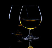 Still life with two glass of brandy Stock Photo