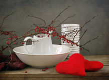 Still life with two hearts Royalty Free Stock Photos