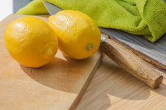 Still life with two lemon Royalty Free Stock Image