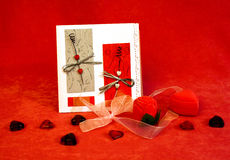 Still-life for valentines day. Still-life with various objects for valentines day royalty free stock images