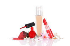 Still Life of Various Cosmetics. Royalty Free Stock Image