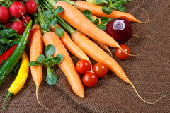 Still life with various fresh vegetables Royalty Free Stock Images
