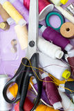 Still life various sewing accessories Stock Photos