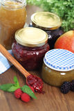 Still life with various types of  jam Stock Image