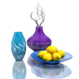 Still life with vases and dried brunch. 3D Illustration Royalty Free Stock Images