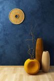 Still life with vases and dryed brunch stock illustration