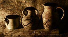 Still life of vases Stock Photography