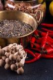 Still life vegan food set on dark background. Concept healthy eating. Beans, lentils, mushrooms shimidzhi stock photos