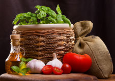 Still life with vegetable royalty free stock photos