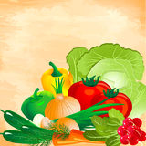 Still life of vegetables Stock Images