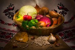 Still-life from vegetables. Still-life from vegetables in the kitchen garden Royalty Free Stock Photography