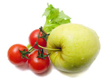 Still-life from vegetables and an apple Royalty Free Stock Photography