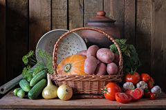 Still life with vegetables. Stock Image