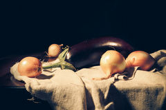 Still life. Vegetables composition on the table royalty free stock photo