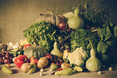 Still life  Vegetables, Herbs and Fruit. Royalty Free Stock Photography