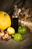 Still-life with vegetables in rural style Royalty Free Stock Images