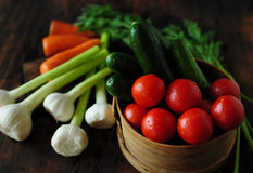 Still life with vegetables. Spring and summer vegetables to your table. Healthy eating. Vegetarian food. Low calories Stock Image