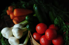 Still life with vegetables. Spring and summer vegetables to your table. Healthy eating. Vegetarian food.Low calories Royalty Free Stock Photography