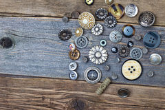 Still life with vintage buttons Royalty Free Stock Image