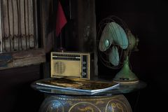 Still Life with vintage household appliances. Royalty Free Stock Images