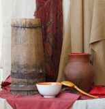Still life of vintage household items. See my other works in portfolio Stock Image