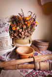 Still life of vintage household items Stock Photos