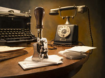 Still life vintage office Royalty Free Stock Photo