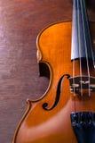 Still life violin on wood table. Stock Photo