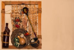 Still life on the wall. Royalty Free Stock Image