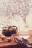 Still life walnuts Stock Photos