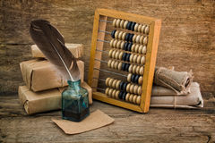 Still Life in a warehouse with  abacus Royalty Free Stock Images