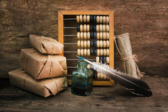 Still Life in a warehouse with  abacus Stock Images