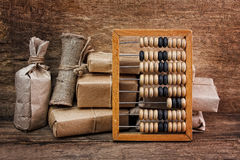 Still Life in a warehouse with  abacus Royalty Free Stock Photos