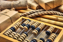 Still Life in a warehouse with  abacus Stock Image
