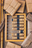Still Life in a warehouse with  abacus Royalty Free Stock Image