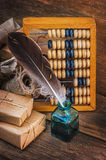 Still Life in a warehouse with  abacus Royalty Free Stock Photo