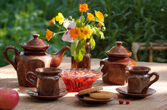 Still life in warm colors Stock Photo
