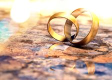 Still life of wedding rings royalty free stock image