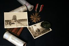 Still life of a Wehrmacht soldier stock photo