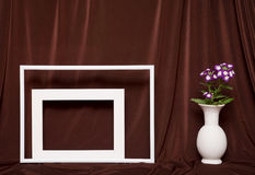 Still life with white frames. Stock Photos