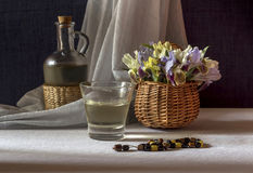 The still life with wild irises Stock Photography