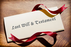 Still Life Of Will Document On Desk Stock Photography