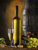 Still life with wine royalty free stock photography