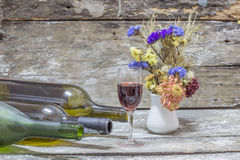 Still life with wine bottle Royalty Free Stock Image